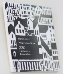 Honor Award Preservation Week 2002 - Landmarks Association